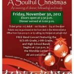 Soulful Christmas Flyer 2012